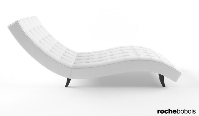 Roche bobois dolce chaise lounge 3d model max - Chaise ava roche bobois ...