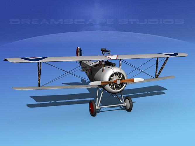 nieuport 17 fighter v08 raf 3d model max obj mtl 3ds lwo lw lws dxf stl 1