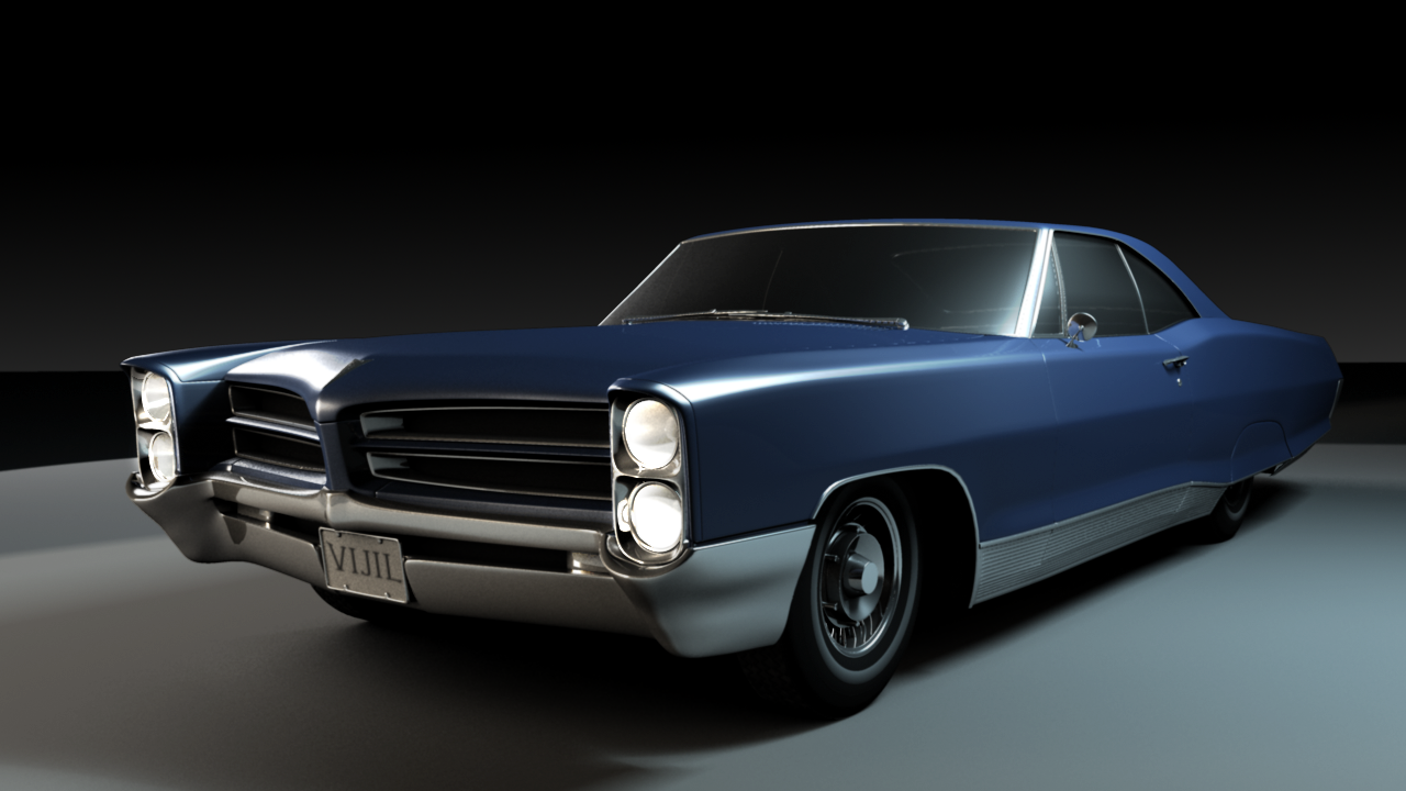 1966 pontiac bonneville exterior 3d model obj ma mb for Exterior 3d model