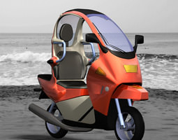 rigged 3d model c1 personal scooter poser vue