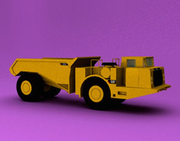 underground articulated truck 3d model max obj 3ds c4d