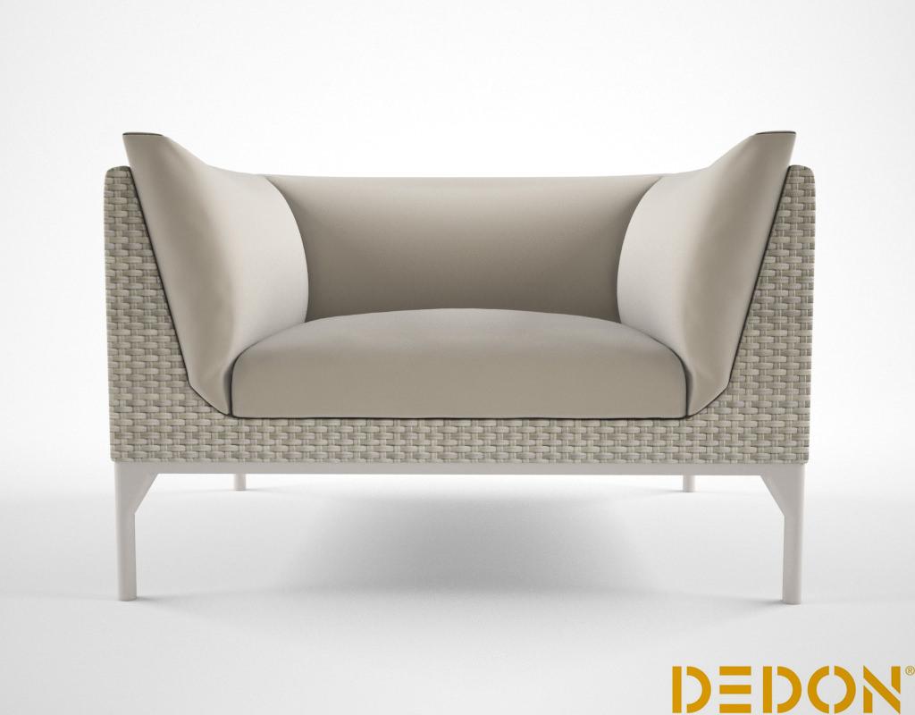 dedon mu lounge chair 3d model max. Black Bedroom Furniture Sets. Home Design Ideas