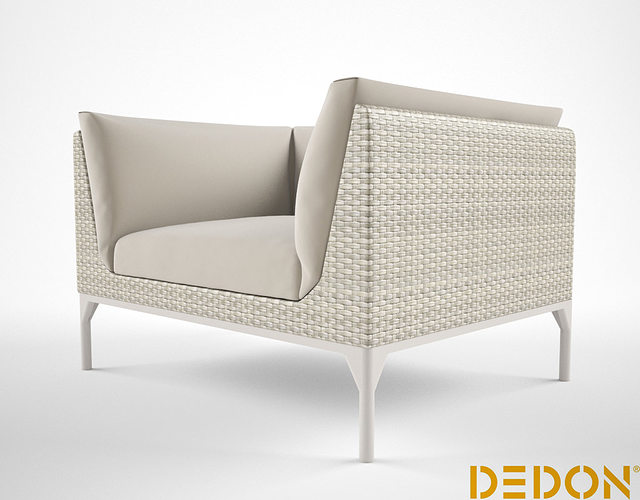 dedon mu lounge chair 3d model max 1