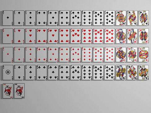 playing cards 3d model max obj mtl 3ds c4d lwo lw lws ma mb 1