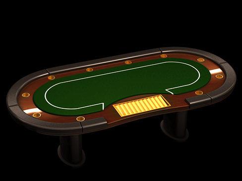 poker casino table 3d model max obj mtl 3ds c4d lwo lw lws ma mb 1