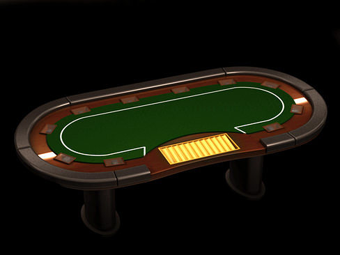poker media table 3d model max obj 3ds c4d lwo lw lws ma mb 1