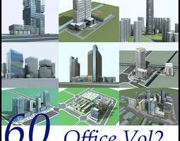 60 Office Buildings Collection 3D model