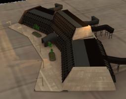 scifi airspaceport 3d printable model