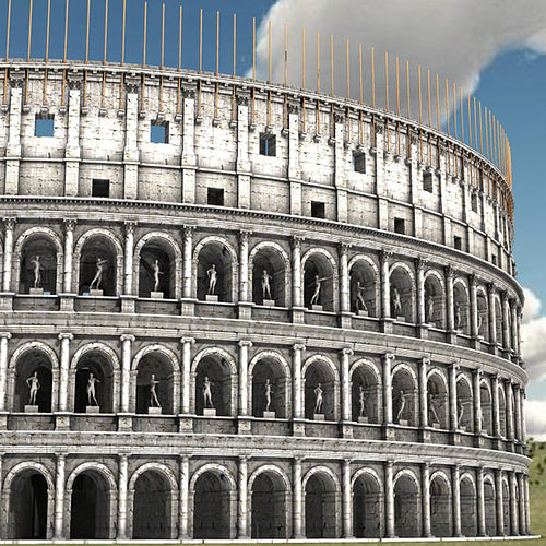 colosseum for 3d studio max 3d model max obj mtl stl pdf 1