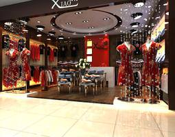 3d model xiao clothing store