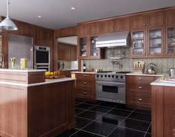3d model fully furnished and polished kitchen
