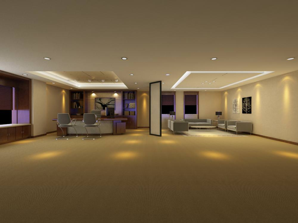 Spacious Office With Designer Ceiling 3D Model MAX