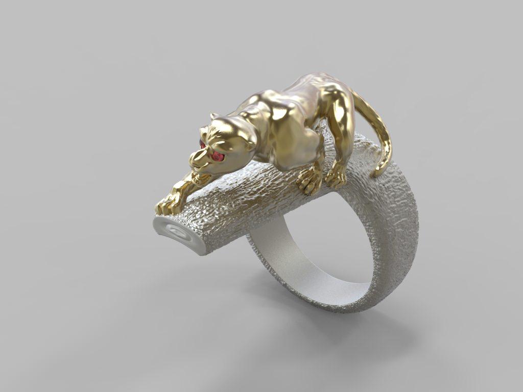 ring wild cat stl 3d model 3d printable stl