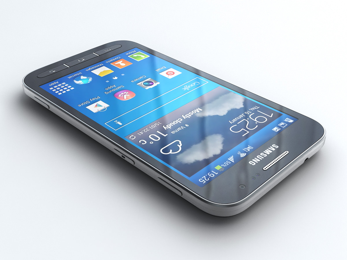 Samsung Galaxy Core Advance 3D Model Max Obj 3ds Fbx