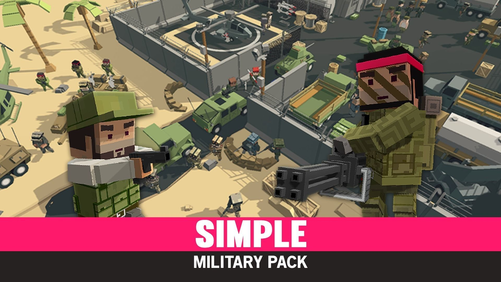 Simple Military - Cartoon Assets | 3D model
