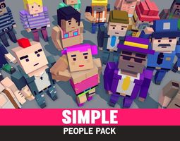 Simple People - Cartoon Assets 3D model