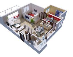 3d posh house interior