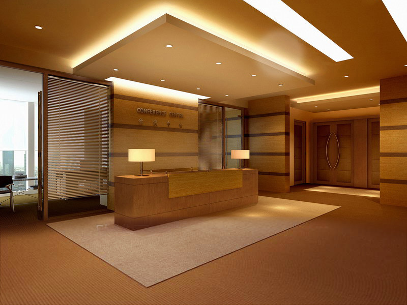 Reception hall with false ceiling 3d model max for False ceiling design for lobby