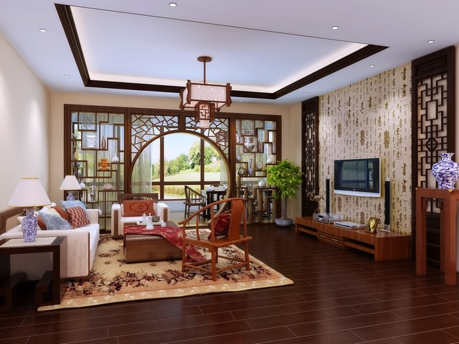 3d model living room with door decoration cgtrader for 3d model decoration