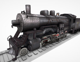 3d model animated VR / AR ready steam locomotive lk 02