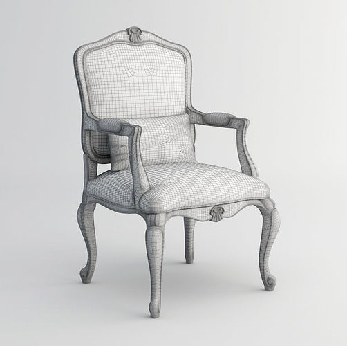 ... Louis Xv Chair 3d Model 3d Model Max Fbx 5