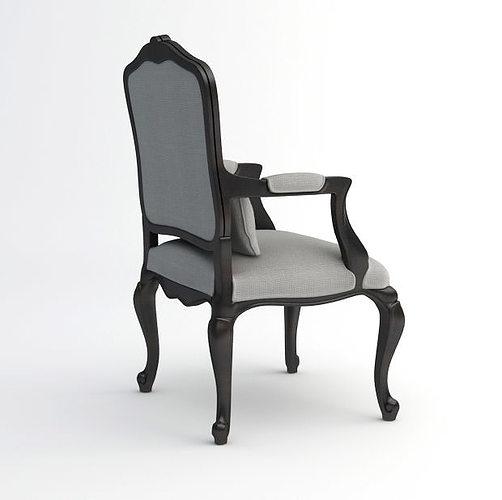 ... Louis Xv Chair 3d Model 3d Model Max Fbx 4 ...