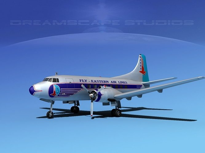 martin 202 eastern airlines 1 3d model max obj 3ds lwo lw lws dxf stl 1