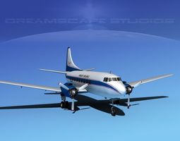3D model Martin 202 Knight Airlines