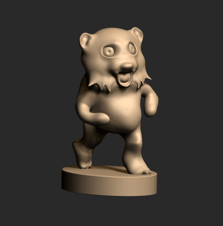 Pedobear free 3d model 3d printable stl 3d printer models free