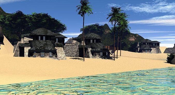 Quantum Beach 3D Model OBJ