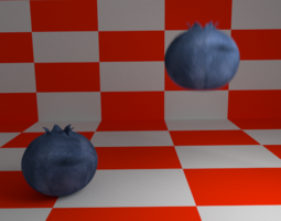 3D model Rigged Blueberries