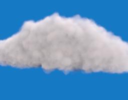 realistic cloud 3d model