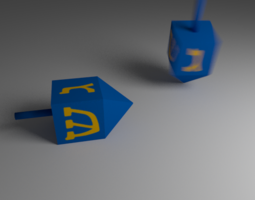 3D model RIGGED Dreidels