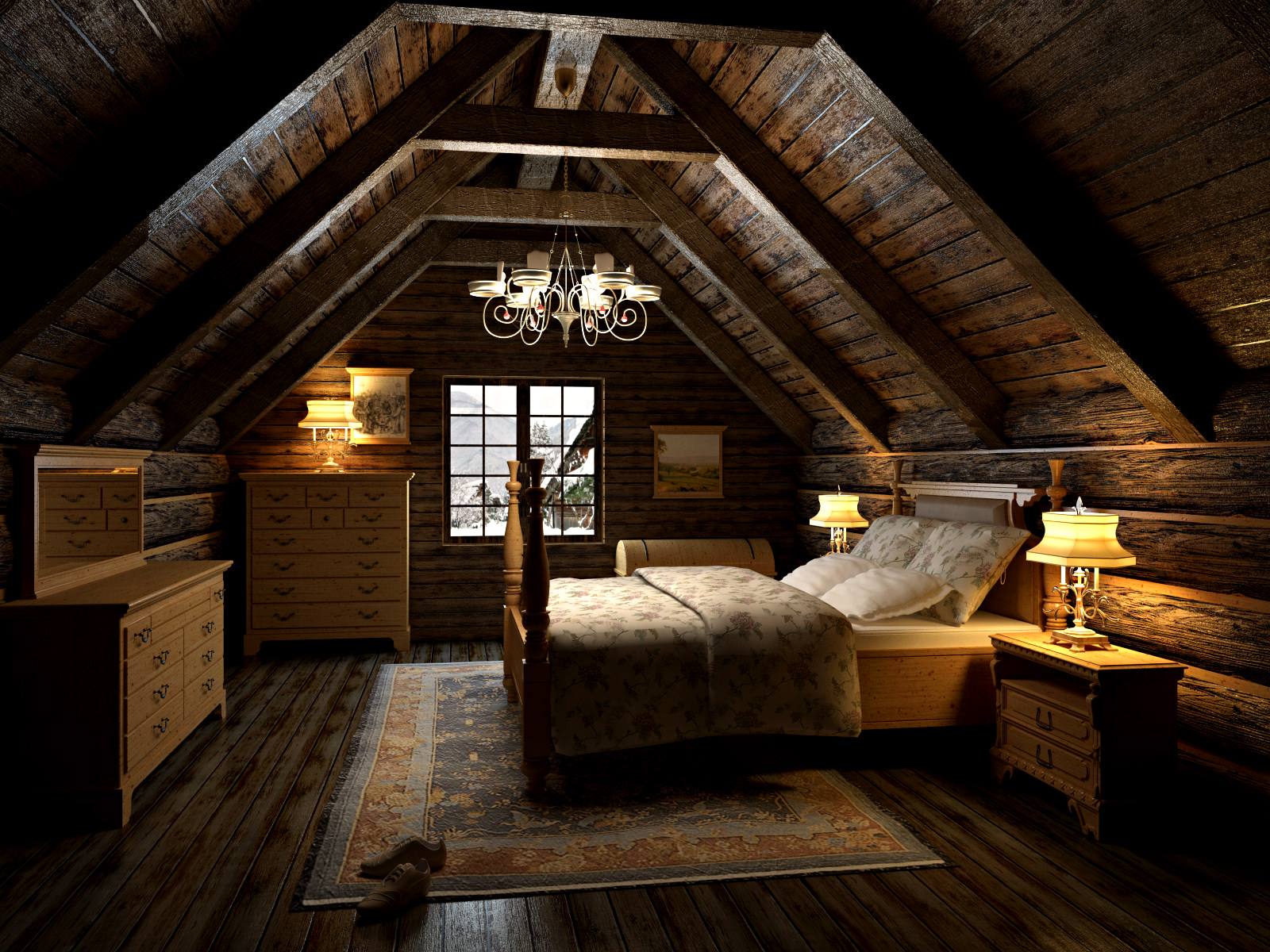 Bedroom In The Attic 3d Model Max Cgtrader Com
