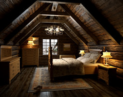 3D Bedroom in The Attic
