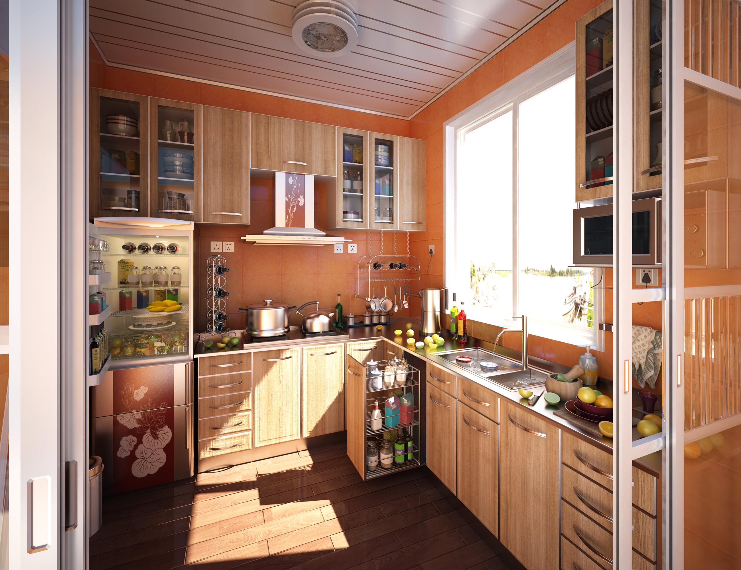 3D Kitchen with Exquisite Designer Walls CGTrader