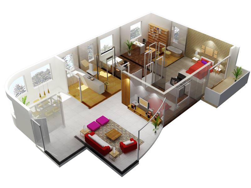 Flat with exquisite interior 3d model max for Model of flat
