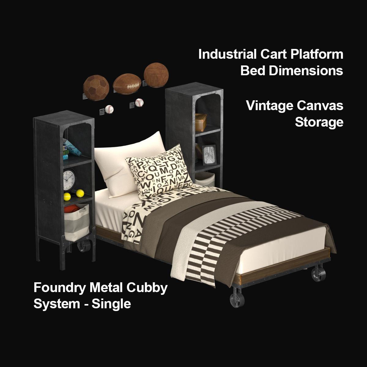 3d Model Children Set Restoration Hardware Bedroom