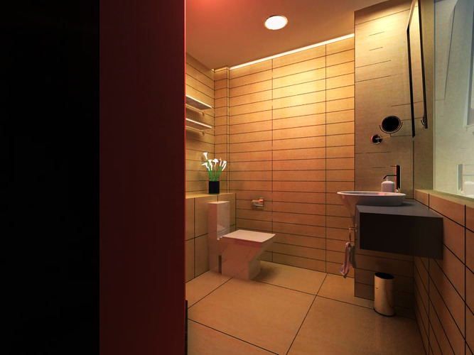 3d exclusive guest bathroom cgtrader for 3d bathroom models