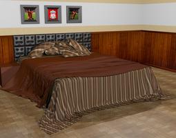 3D model Bedroom - Set 01