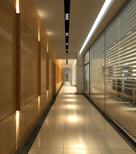 3d Model Exclusive Corridor For Offices Cgtrader