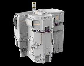 3D sci-fi Architectural element 8