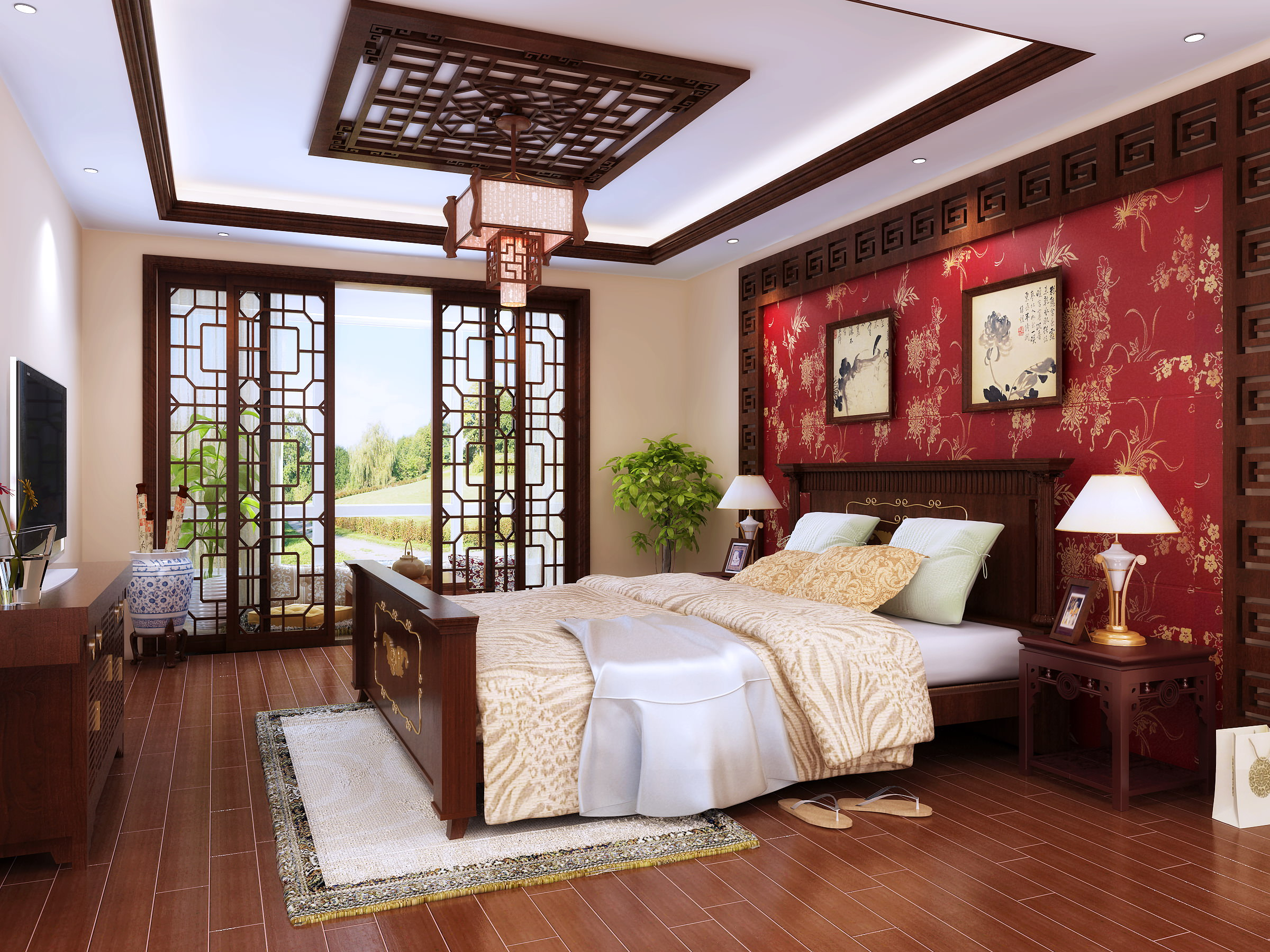 Fully Furnished Master Bedroom 3D model MAX