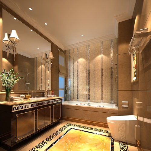 Modern design bathroom 3d cgtrader for Bathroom design 3d model