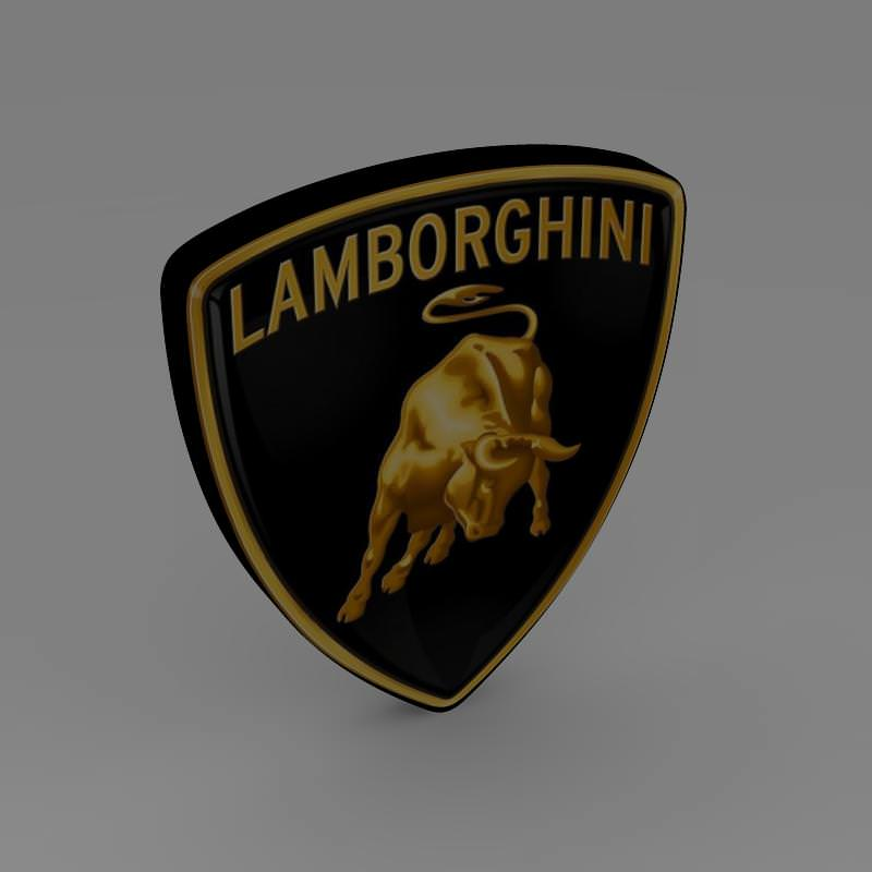 Lamborghini Logo 3d Model Cgtrader