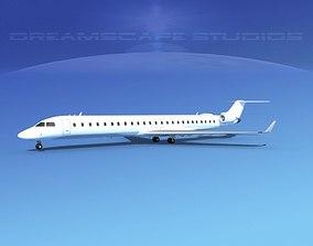 3D model Bombardier CRJ1000 Unmarked 1