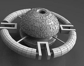 starship 3D model Space station