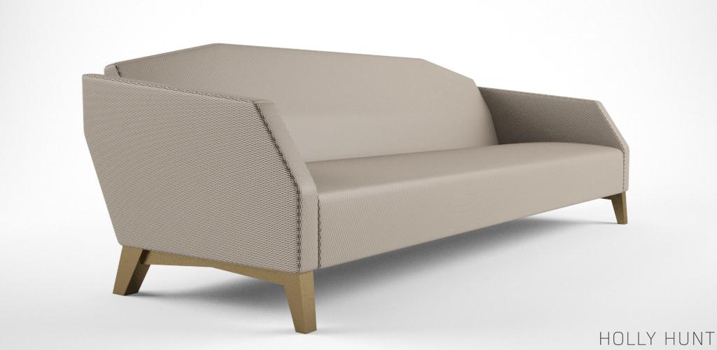 Holly Hunt Vector Sofa 3d Model Max Obj Fbx 2