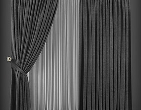 low-poly Curtain 3D model 179