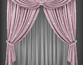 Curtain 3D model 188 low-poly
